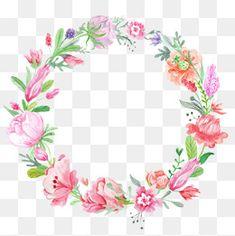 Corona de flores de color
