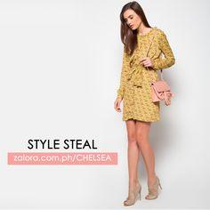 Demure yet modern chic dress.  Zalora.com.ph/Chelsea   #zaloraph #onlineshopping #fashion #dress #ootd #lotd #fbloggers #fbloggersuk #zalora