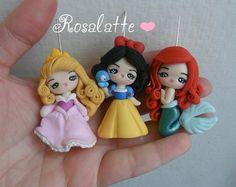 Pendants Princesses Disney Fimo