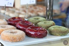 Donuts, counter view