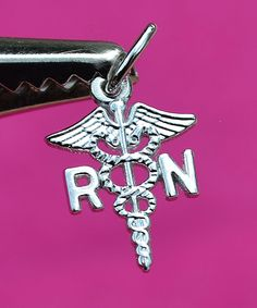 Brand New Sterling Silver Rembrandt RN Registered Nurse Caduceus, Charm Pendant  #Rembrandt #CharmPendant