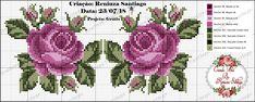 Cross Stitch Rose, Cross Stitch Flowers, Cross Stitch Designs, Cross Stitch Patterns, Cross Stitching, Cross Stitch Embroidery, Cross Stitch Alphabet, Plastic Canvas Crafts, Tapestry Crochet