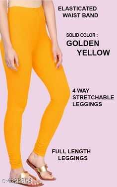 Leggings & Tights  Alluring Attractive Women's Legging Fabric: 95%COTTON  5% LYCRA Size: XL - Waist - Up To 22 in To 28 in Length - Up to 42 in XXL - Waist - Up To 25 in To 30 in Length - Up To 44 in Type: Stitched Description:  It Has 1 Pieces Of Women's Leggings  Colour: Golden Yellow Pattern: Solid Country of Origin: India Sizes Available: XL, XXL   Catalog Rating: ★4.1 (476)  Catalog Name: Siya Alluring Attractive Women's Leggings Vol 18 CatalogID_603678 C79-SC1035 Code: 262-4222854-675