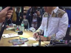 Tim Holtz introduces and demos his new Distress Crayons & Collage Mediums at CHA 2016