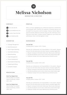 Your resume is one of your best marketing tools. The goal of your resume is to tell your individual story in a compelling way that drives prospective employers to want to meet you. Creative Cv Template, Modern Resume Template, Cv Template Word, One Page Resume Template, Format Cv, Cv Original, Resume References, Cv Inspiration, Summary Writing