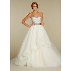 Amazing Tulle Ball Gown Sweetheart Spring Sleeveless Beading Empire Wedding Dresses