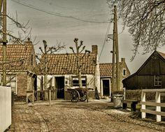 Huisjes Zuiderzee Museum in Enkhuizen