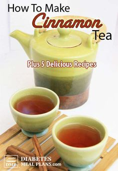 How to make cinnamon tea PLUS 5 delicious recipe alternatives. Cinnamon helps lo… How to make cinnamon tea PLUS 5 delicious recipe alternatives. Cinnamon helps lower blood glucose, inflammation, and cholesterol. Diabetic Recipes, Healthy Recipes, Delicious Recipes, Diabetic Snacks, Hot Tea Recipes, Juice Recipes, Breakfast Recipes, Cholesterol Diet, How To Lower Cholesterol