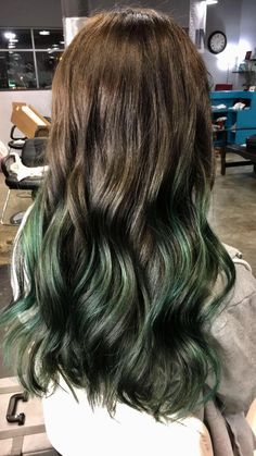 Emerald green Balayage