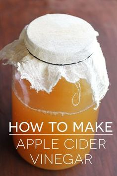 A step-by-step tutorial for how to make apple cider vinegar. With just a few supplies and a bit of waiting time you can have your own homemade vinegar!