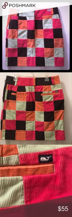 Vineyard Vines 🌺 Corduroy Patchwork Skirt 🌺 0 2 This is the most gorgeous corduroy skirt you've ever seen!  Bright fun colors and so nicely made!  With pockets too! 😃 It is going to be your favorite piece this fall! ❤️ Vineyard Vines Skirts