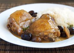 Braised Chicken with Chestnuts Recipe on Yummly. @yummly #recipe