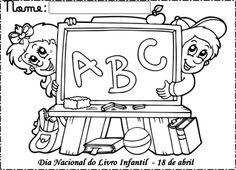 atividades de alfabetização para colorir e imprimir