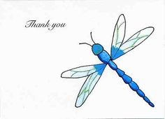 Dragonfly Thank You Card 10 pack by KardsbyKaylee on Etsy, $5.00