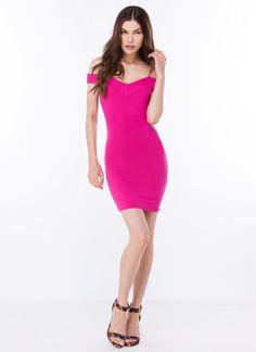 Crossed Off-The-Shoulder Dress GoJane.com