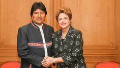 Em encontro c/ o presidente Evo Morales, discutimos as posições de Brasil e Bolívia nas negociações da #COP21