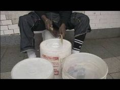 Bucket & Random Object Drumming : Playing Different Tones on a Bucket - YouTube