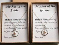 Set of 2 Mother of the bride-mother of the groom-Silver infinity necklaces-gifts for moms-Mother wedding fit-Mother in law-Wedding Jewelry Set Mutter der Braut-Mutter des Bräutigams-Silber Wedding Gifts For Bride And Groom, Mother Of The Groom Gifts, Gifts For Wedding Party, Bride Gifts, Mother Gifts, Gifts For Mom, Bride Groom, Grooms Mother Gift, Wedding Gifts To Parents