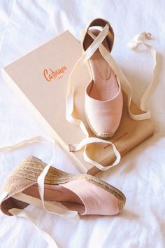 Stepping into Spring even though it's only February. Link in my bio to shop these blush pink espadrilles Castaner Espadrilles, Blush Shoes, Shoe Boots, Shoes Heels, Cute Shoes Flats, Strap Heels, Ankle Strap, Ballet Shoes, Dream Closets