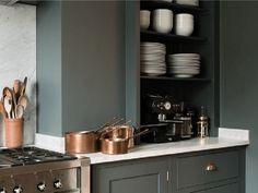 Coup de coeur pour cette ambiance verte dans la cuisine...