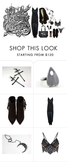 """""""Exquisite Corpse"""" by ghoulnextdoor ❤ liked on Polyvore featuring Yves Saint Laurent"""