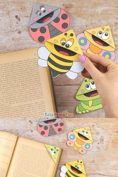 We've got a fun little spring craft for you – make bugs corner bookmarks with template we provide! # Bugs Corner Bookmarks With Template Summer Crafts For Kids, Paper Crafts For Kids, Diy Arts And Crafts, Spring Crafts, Diy Craft Projects, Projects For Kids, Diy For Kids, Fun Crafts, Diy Crafts Videos