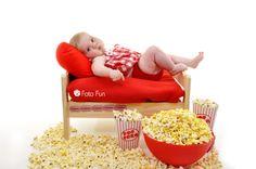 Movie Star little girl with pop corn