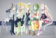 Vocaloid - Hatsune Miku, Kagamine Rin & Len, Gumi, Ia
