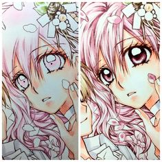 The process of arina tanemura coloring!!! Waiting so long for this!