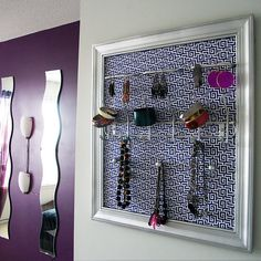 The Blueprint Jewelry Frame by Nishka's Niche, via Flickr