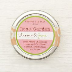 lip balm addicts unite! Totally natural / organic rose scented balm in eco friendly packaging. $5.25 @Etsy