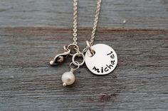 Hand Stamped   Pea in a PodOne Sweet Pea by SomethingAboutSilver, $44.00