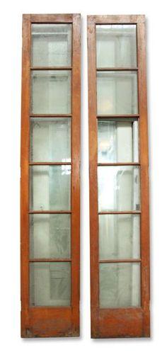 Narrow French double doors