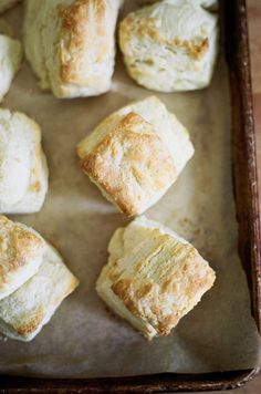 These biscuits from Apt. 2B Baking Co. use ricotta instead of milk in the dough. Great idea!