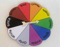 La ruleta de los colores en inglés