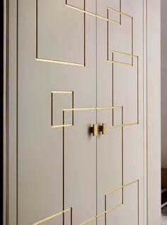William Garvey hand made door with gold leaf detail