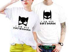 Catwoman And Batman Superhero Marvel Couples Matching Shirts, Couples T Shirts, Funny Couple Shirts