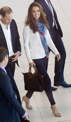 Kate Middleton's Airport Style: The Duchess Wears Project D London Dress Before Switching To Jeans And Temperley Scarf | Grazia Fashion