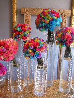 Rainbow Roses....LIKE THE ROSES RAINER FIRST GAVE YOU FOR VALENTINES DAY