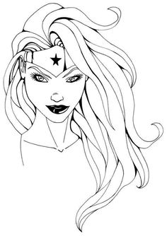 Printable Free Superhero Wonder Woman Colouring Pages For Kids #51666.