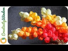 Grab pieces of crepe paper and create you own fancy orchid flower. Origami Flowers, Flower Garlands, Diy Flowers, Crochet Flowers, Fabric Flowers, Paper Flowers, Ribbon Crafts, Flower Crafts, Planting A Rainbow