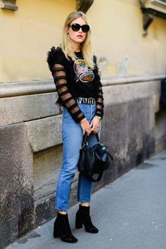 Street Style: Mixing Rocker And Girly-Girl