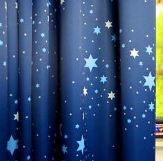 Antraciet / Roze Gordijn Black-out Stars (verduisterend) | Sf. 4750 ...