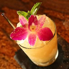 This beautiful tiki drink is a blend of several types of rum and fresh, fruity ingredients, and is sure to impress any cocktail enthusiast.