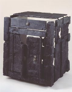 Small night stand, carbonized wood, from Herculeneum. Buried by the eruption of Mt. Vesuvius in 79 CE.