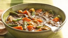 Curried Sweet Potato, Lentil and Chicken Soup