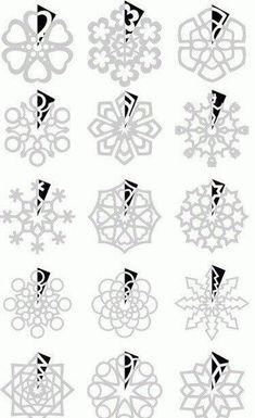 DIY : Paper Snowflakes Templates by Hairstyle Tutorials - Christmas DIY Holiday Fun, Christmas Holidays, Christmas Ornaments, Christmas Paper, Diy Christmas Snowflakes, Diy And Crafts, Crafts For Kids, Paper Crafts, Diy Weihnachten
