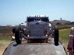 This custom Blastolene Hot Rod called Piss'd Off Pete was built from a 1960 Peterbilt truck by Randy Grubb.