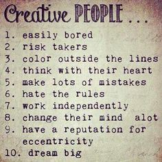 Creative people.....