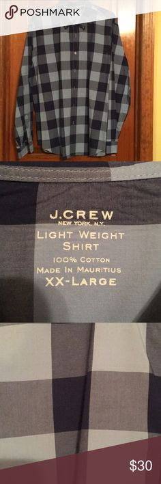 J Crew XXL like new shirt J Crew like new XXL shirt.  Dark blue and a light blue.  Awesome shirt.  100% cotton. J. Crew Shirts Casual Button Down Shirts